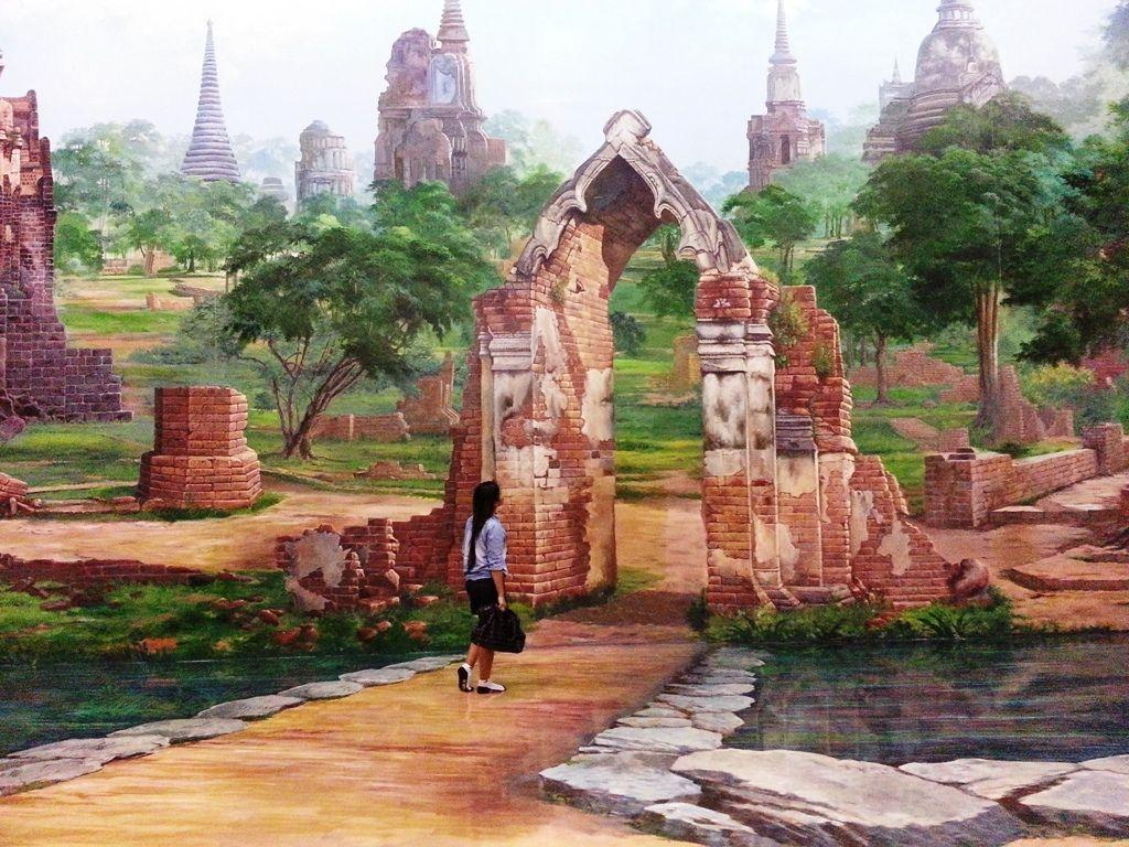 A very realistic 3D image at Art In Paradise Pattaya. Our guide creates an illusion