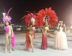 Performers outside The Colosseum Cabaret Show Pattaya