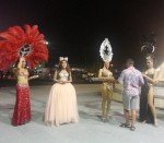 Performers beg for tip outside The Colosseum Cabaret Show Pattaya