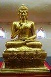 Golden Buddha statue inside Black Buddha Phetchabura Buddha Park 02