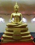 Golden Buddha statue inside Black Buddha Phetchabura Buddha Park 05