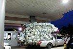 Isan Region Thailand overloaded pickup