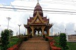 Lom Sak City Pillar Shrine Phetchabun base of steps