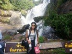 Mae Klang Waterfall Tour Guide at Base of Fall