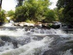 Mae Klang Waterfall Two streams merge above main fall