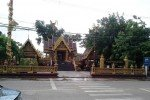 View of the Phetchabun City pillar Shrine from across the road..