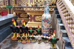 Phetchabun City pillar Shrine. I have noticed that a lot of shrines especially in Phetchabun have a lot of chickens.