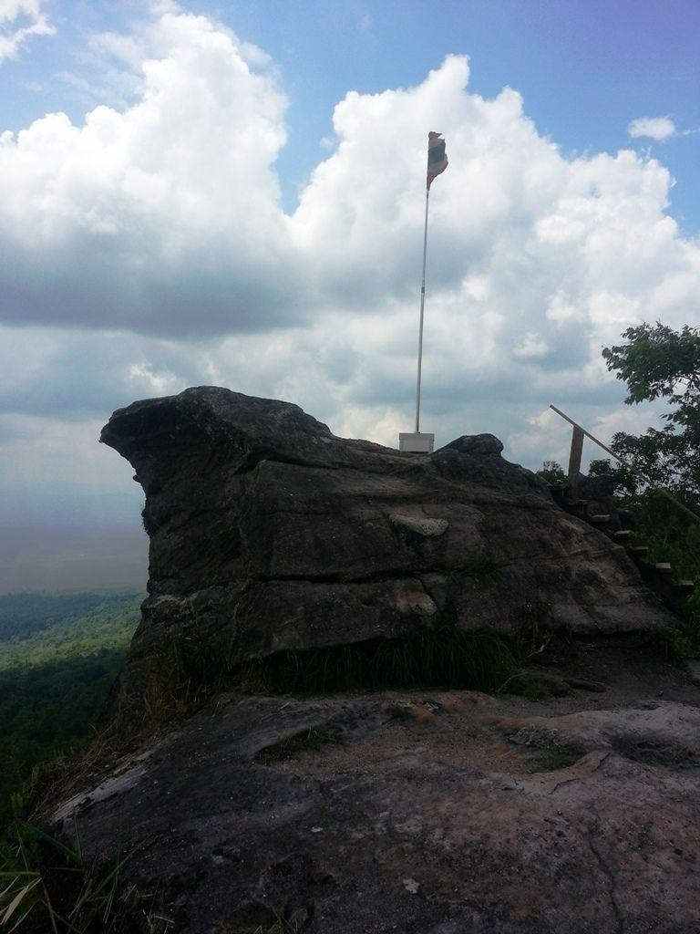 Flagpole Cliff at Phu Hin Rong Kla National Park