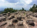 Some of the many interesting rock formations at Phu Hin Rong Kla National Park