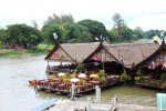 River Kwai Bridge with Thai Group Tours Eating area near River Kwai Bridge