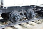 River Kwai Bridge with Thai Group Tours Rail truck wheel close up
