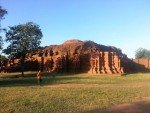 Another side view of an old temple ruin at Si Thep Historical Park. Phetchabun Northern Thailand