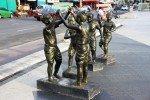 Statues of children at play near Thao Suranari Statue