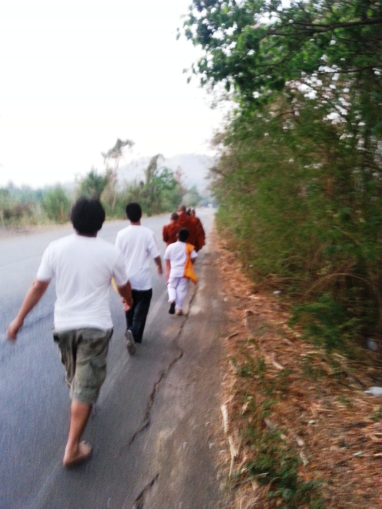 Picture taken on my first day of walking with a Buddhist monk