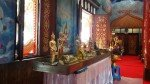 Small display inside the old Wat Tub Berk Phetchabun Mountains Northern Thailand