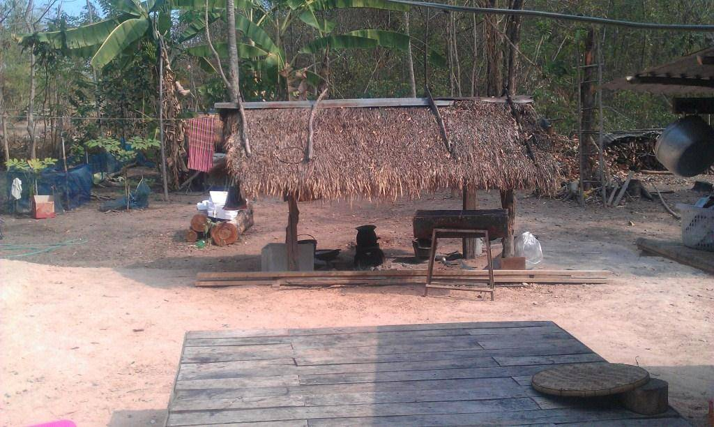 Wapi Pathum village outdoor kitchen